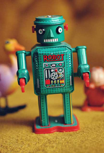 Robot on the march to invent new toys